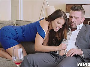 stunning Adriana is aiming for the chief' shaft
