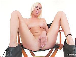 stellar honey Victoria milky showcases off her impressive figure