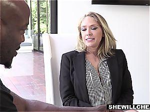 SHEWILLCHEAT - kinky Real Estate Agent porks big black cock