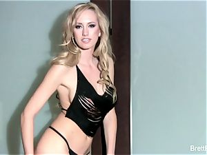 handsome Brett Rossi nude against the wall