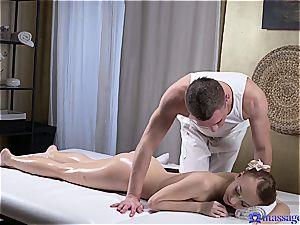 super-fucking-hot grease massage makes mind-blowing nubile weenie greedy