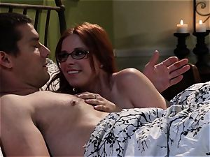 timid waitress Penny Pax penetrates her wish client