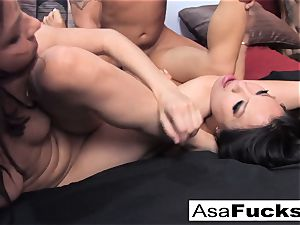 Asa and Dana team up for a steaming three way with Derrick