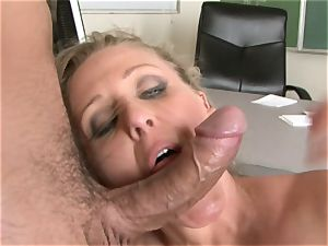 Julia Ann is a gonzo cougar who wants to put her slit on a hard trunk