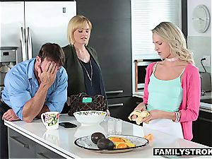 super-naughty daughter boinking her bulky stepfather
