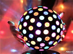jaw-dropping large jugged disco ball honey
