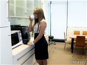 lovemaking in the Office with Aletta Ocean and Brandy grin