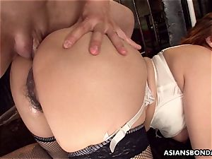 giving her bum up in a horny bdsm session