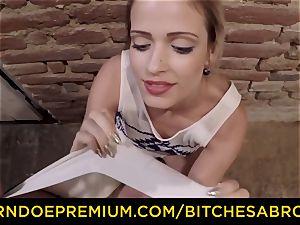 supersluts ABROAD lovely platinum-blonde boinks giant cocked officer