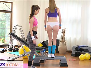 FitnessRooms red-hot honies having hump in the gym