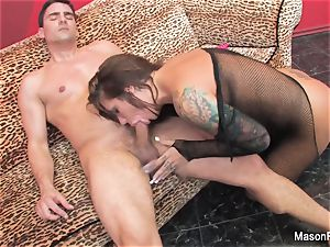 dark-haired babe Mason has an mighty penetrate session