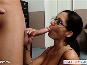 lecturer in glasses Ava Addams gets phat jugs pummeled